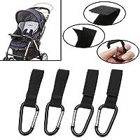 4 x Universal Buggy Mummy Adjustable Clips Pram Pushchair Shopping Bag Hook Carabineer Clip