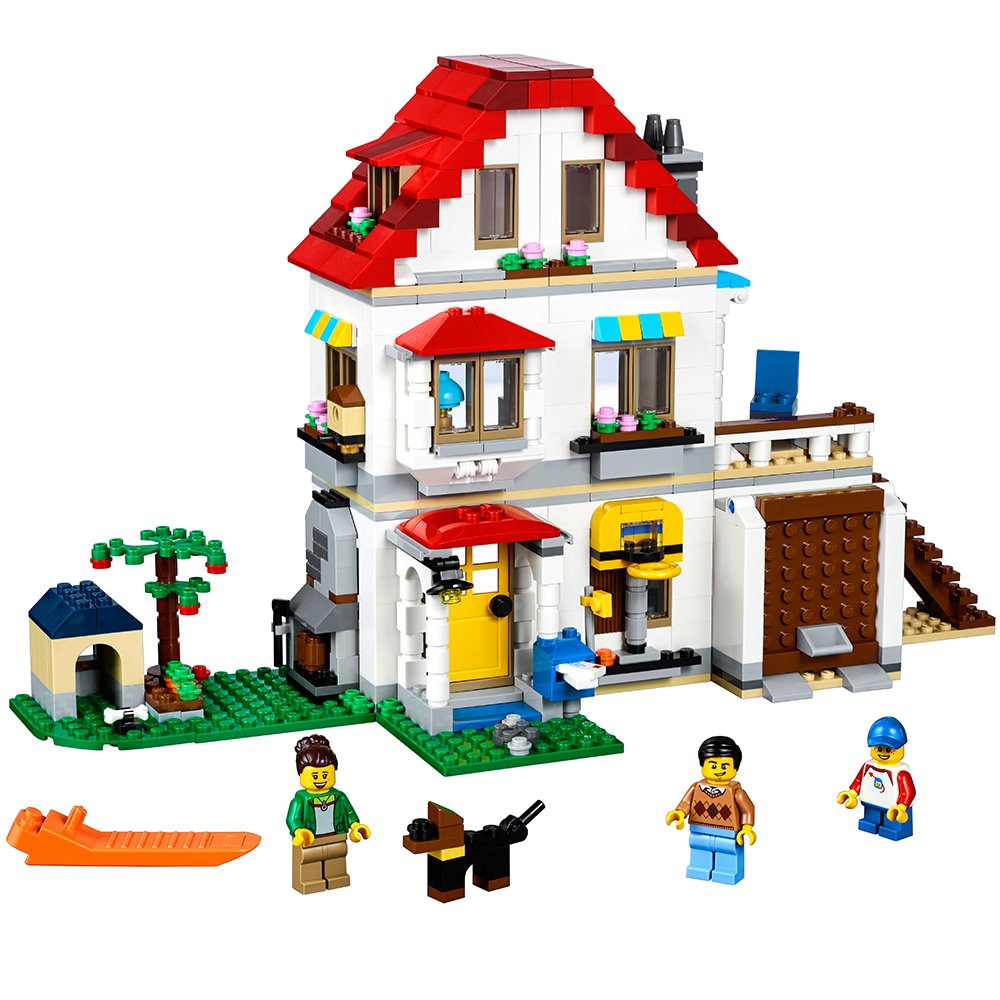 lego creator modular family villa 31069 building kit 728. Black Bedroom Furniture Sets. Home Design Ideas
