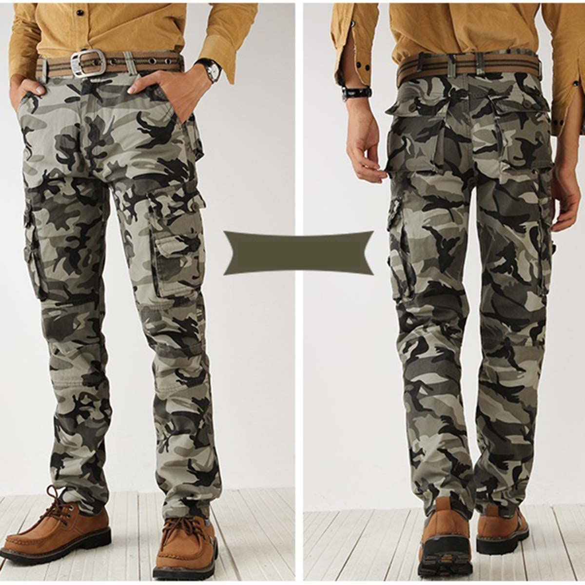 Panegy Mens Camouflage Army Work Pants Combat Wild Tactical Outdoors Trousers