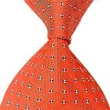 Allbebe Red Jacquard Woven With Little Plaid 100% Silk Men's Tie Necktie