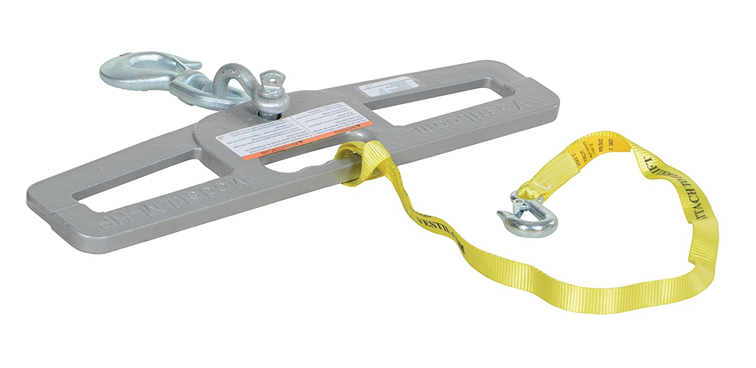 "Vestil LM-HP6-S Swivel Lift Master Hook Plate, 24"" Width, 6"" Height, 6000 lbs Capacity"
