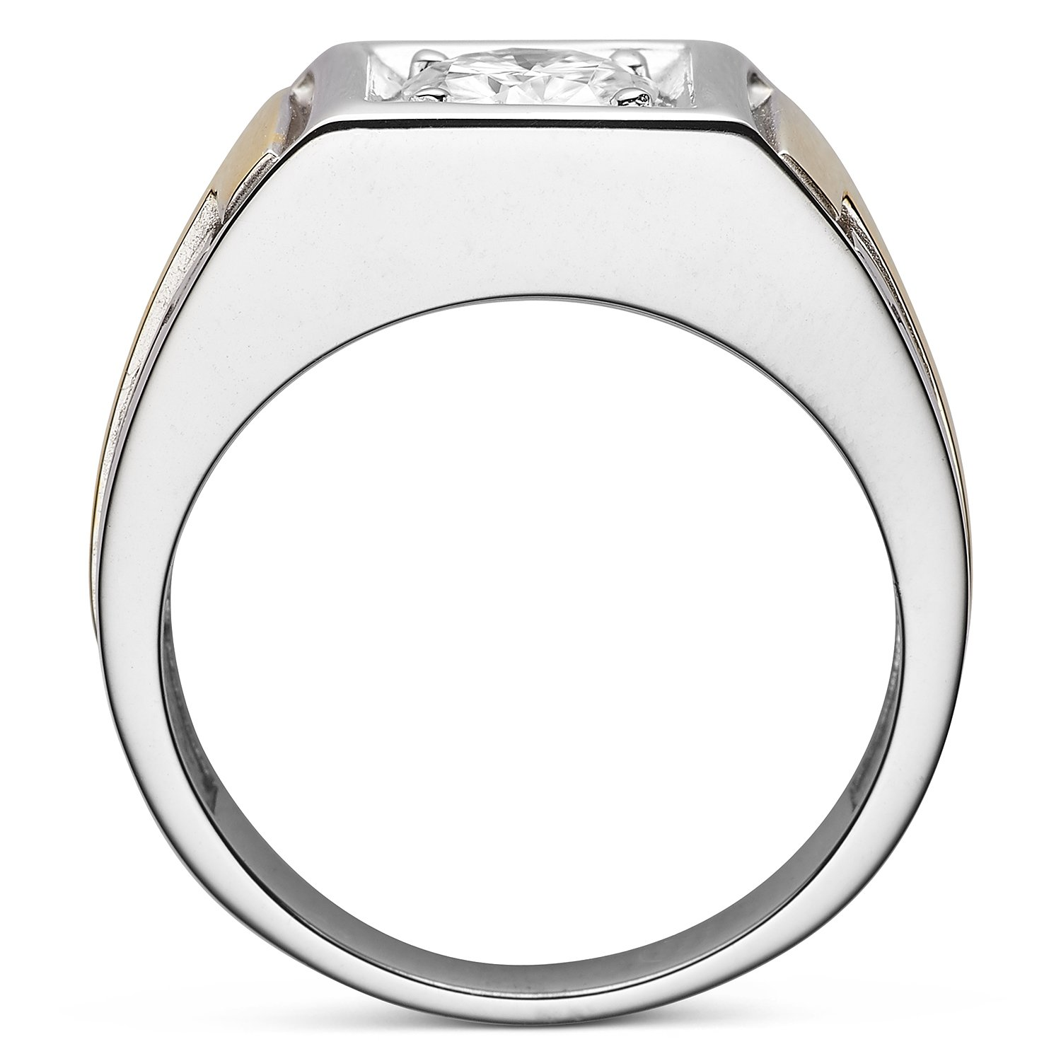 Forever Classic Men�s Round 7.0mm Moissanite Wedding Band-size 11, 1.20ct DEW By Charles & Colvard by Charles & Colvard (Image #3)