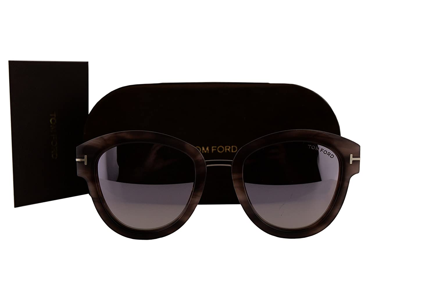 c03176d97f5ff Amazon.com  Tom Ford FT0574 Mia-02 Sunglasses Havana w Brown Mirror Lens  55Z TF574  Sports   Outdoors