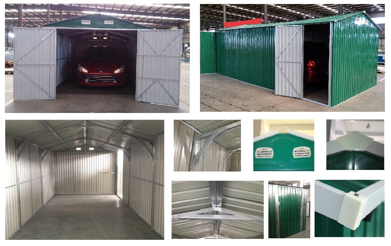Casita Box Casitas rimessa ripostiglio Garaje coche jardín galvanizada Marrón Tamaño cm 500 x 300 x 232H: Amazon.es: Hogar