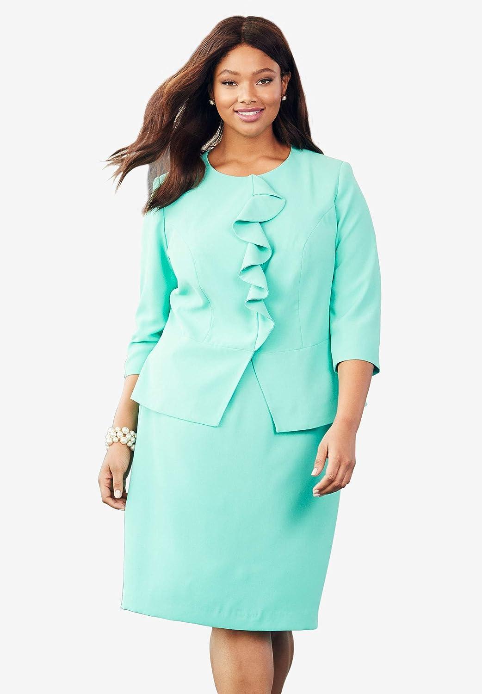 Jessica London Women's Plus Size Ruffle Skirt Set