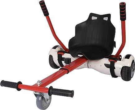 Sfeomi Hoverkart Silla para Hoverboard Electrico Hover Kart Ajustable para Patinete Eléctrico Asiento Kart Adaptarse a 6.5 8 10 Pulgadas Hoverboard Go Kart con Asiento para Niños y Adulto (Rojo): Amazon.es: Deportes