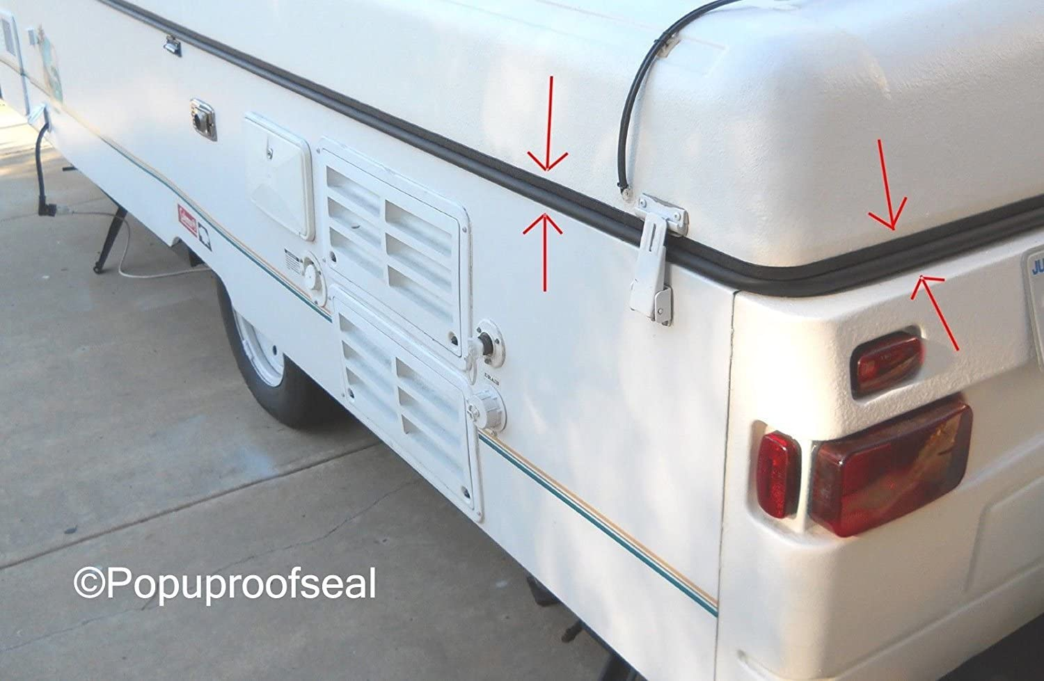 1996-2003 Coleman Fleetwood Popup Trailer Roof Seal 41' for ABS Roofs - Rubber Gasket