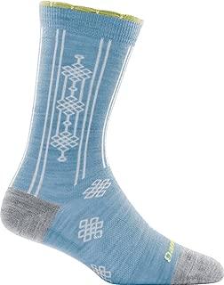 product image for Darn Tough 1685 Mosaic Women's Merino Wool Crew Height Light Socks, Sky, Large (10-11.5)