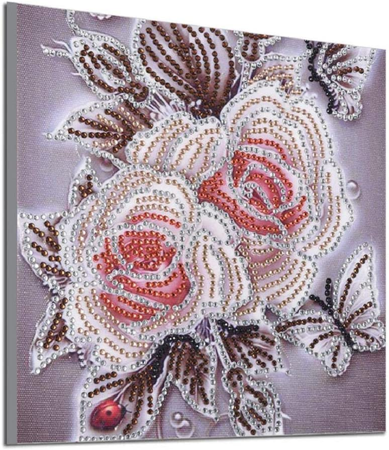 Home Wall Decor Rose Flower Partial Drill Embroidery Cross Stitch Paintings Sets for Living Room Bedroom Decoration-10x10 Barlingrock DIY 5D Diamond Painting by Number Kit for Adult