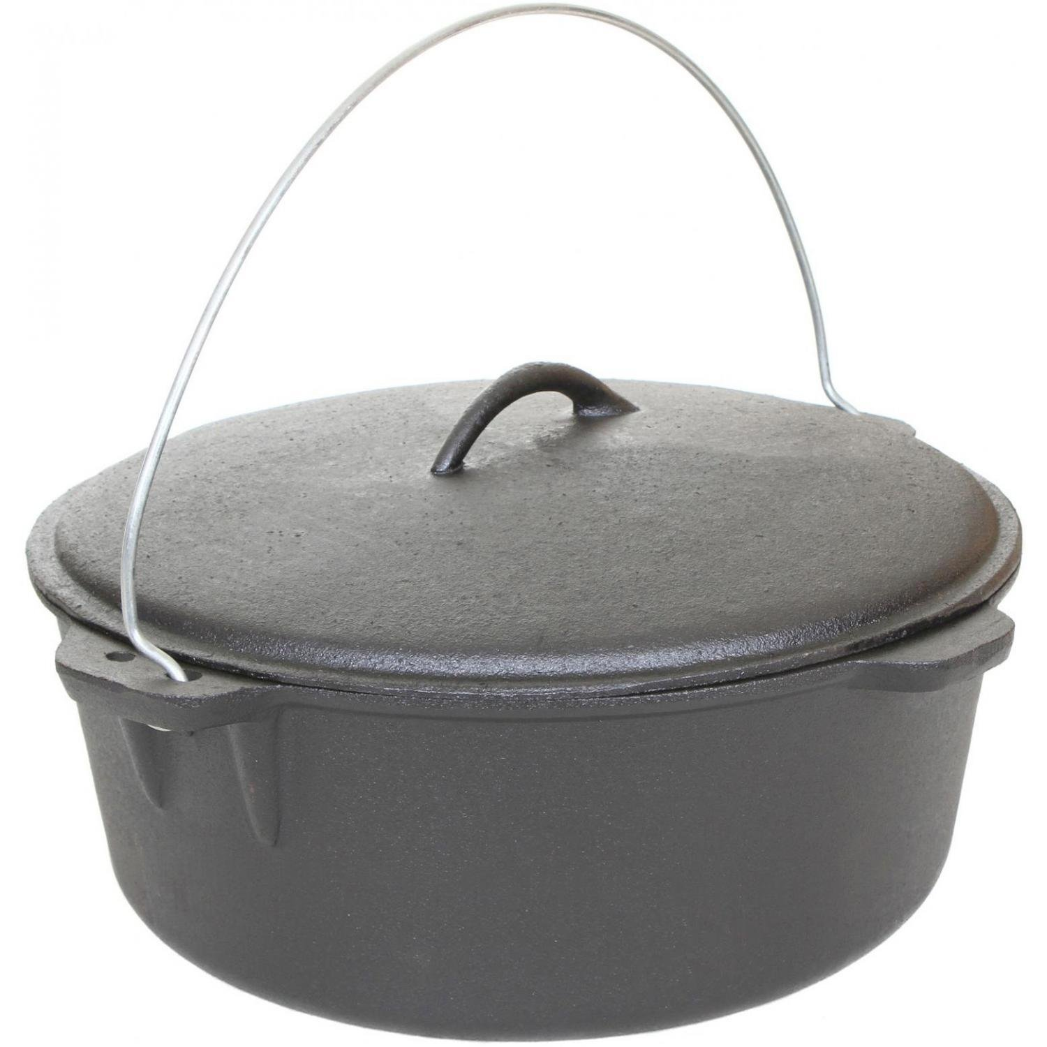Cajun Cookware 12-quart Unseasoned Cast Iron Dutch Oven - Gl10489