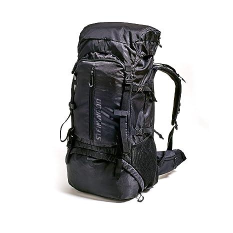 Steinwood Mochila de trekking impermeable 70 litros, Mochila para senderismo, hidrofóbico con protector de