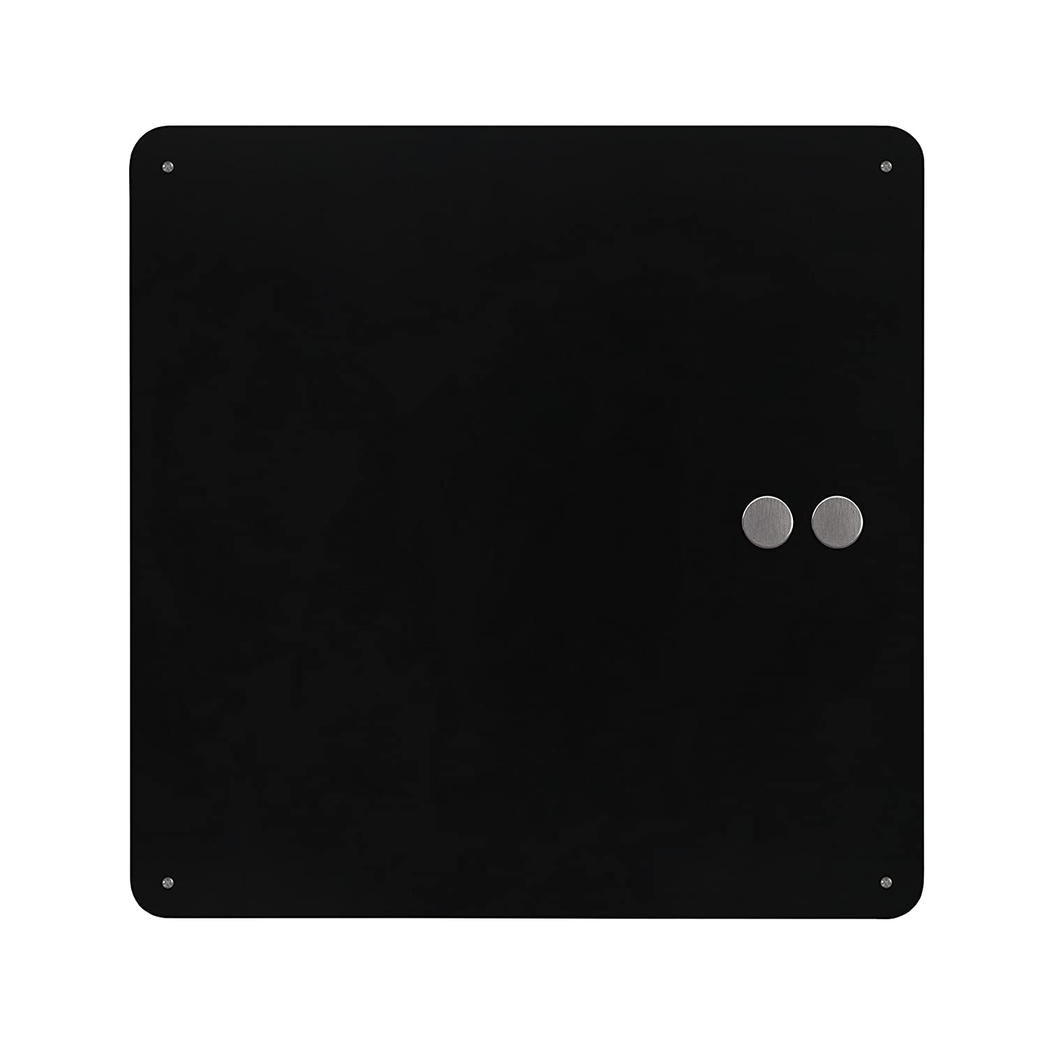 Three By Three Seattle Square Dot Magnetic Bulletin Board, 15 Inches, Stainless Steel, 1 Pack (32410)