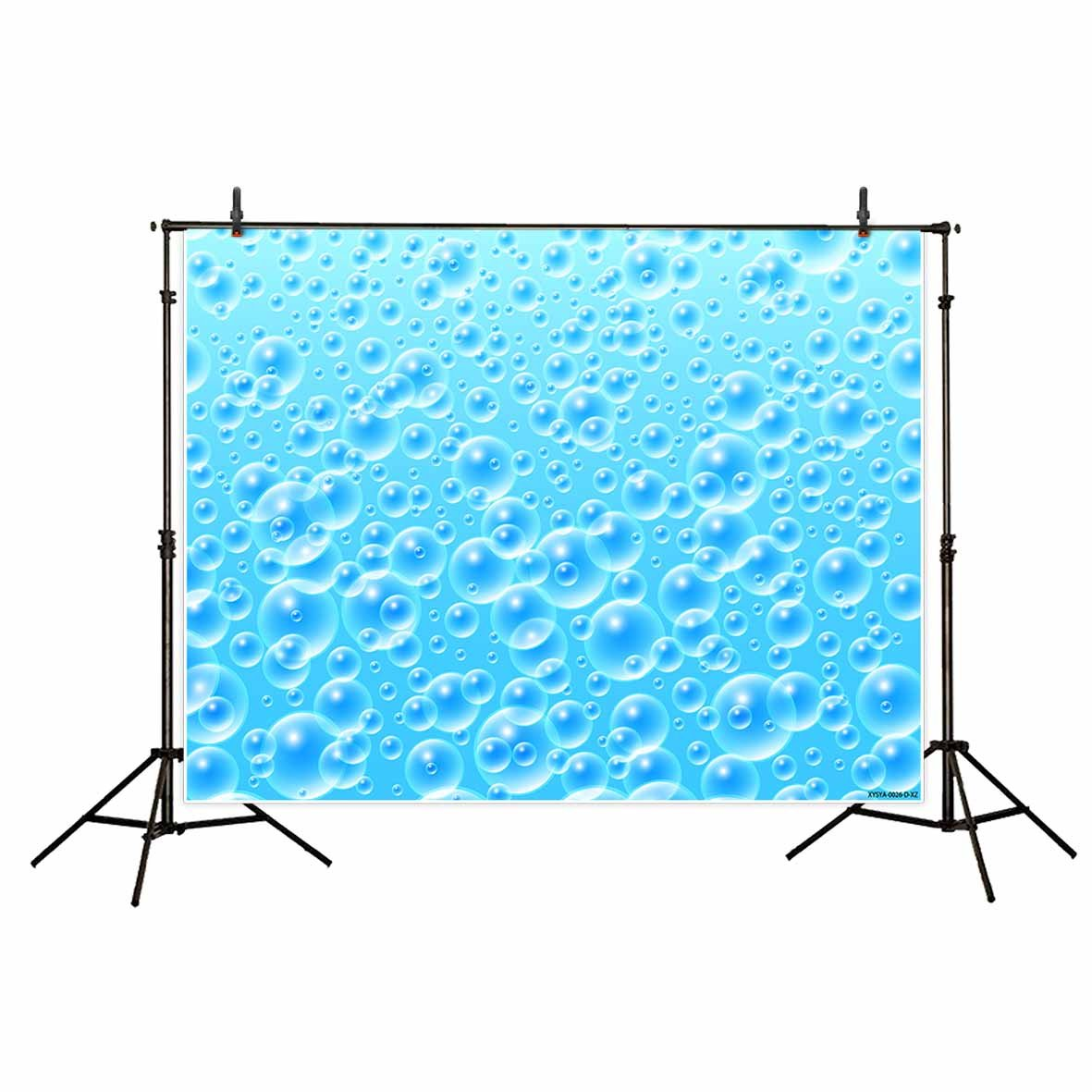 Funnytree Blue Bubble Background - Photography Backdrop - Great for Studio, Booth, Summer Party, Photo, Wedding, Business Use, 7x5 Ft