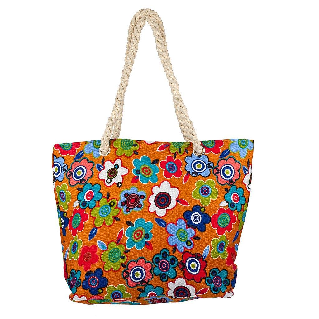 Lux Accessories Womens Extra Large Zip Up Beach Tote Bag Aztec Pastel Line BG218275-1-BG6