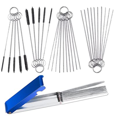 Set of 3 Carburetor Carbon Jet Cleaner, AIFUDA 13 Wire Torch Tip Cleaner Tool and 2 pcs of 10 Needles 5 Brushes Cleaning Tool Kit for ATV Welder Motorcycle: Automotive