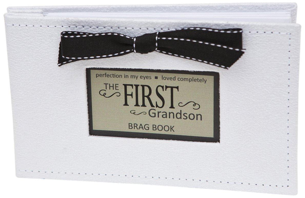 The Grandparent Gift First Grandson Photo Album, White, Black The Grandparent Gift Co. 1141