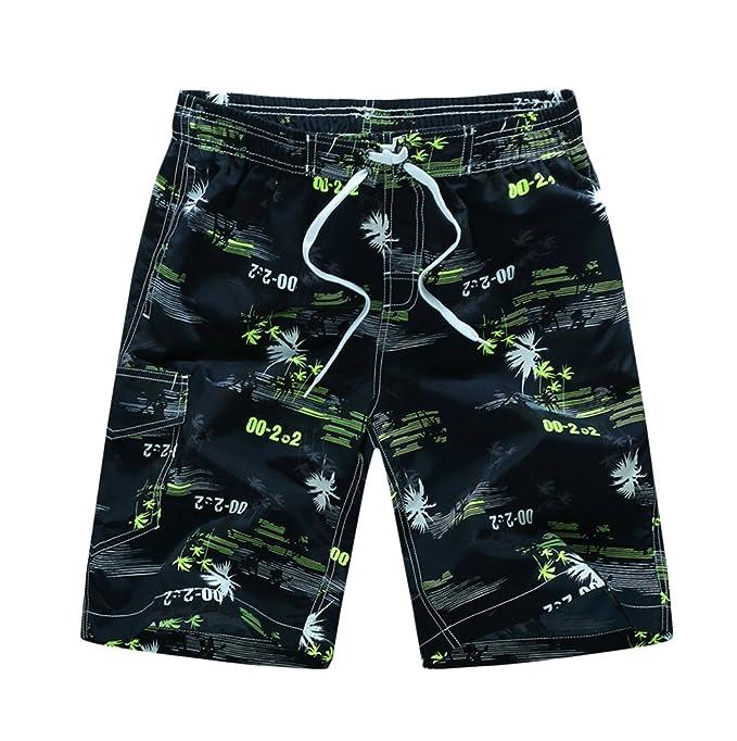 Bañador Hombre Verano Playa Pantalón Corto Hippies Moda Estampadas Bañadores Boardshorts Shorts THt258