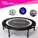 Maximus Life Bounce & Burn Foldable Indoor Mini Trampoline Rebounder for Adults. Fun Way to Lose Weight and get FIT…