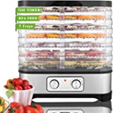 Food Dehydrator Dryer Food Dehydrator Machine for Jerky Meat Fruit Vegetable Beef, BPA Free, Temperature Control 250W (7 Tray