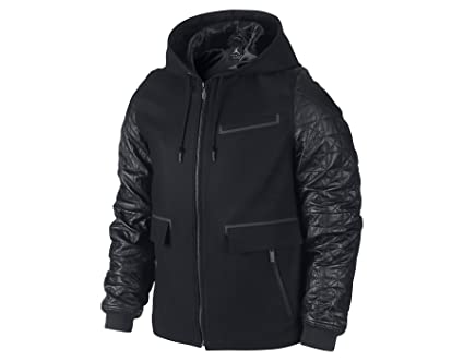 aa51bab9f Image Unavailable. Image not available for. Color: [632071-010] AIR Jordan  AJ Leather Letterman Jacket ...