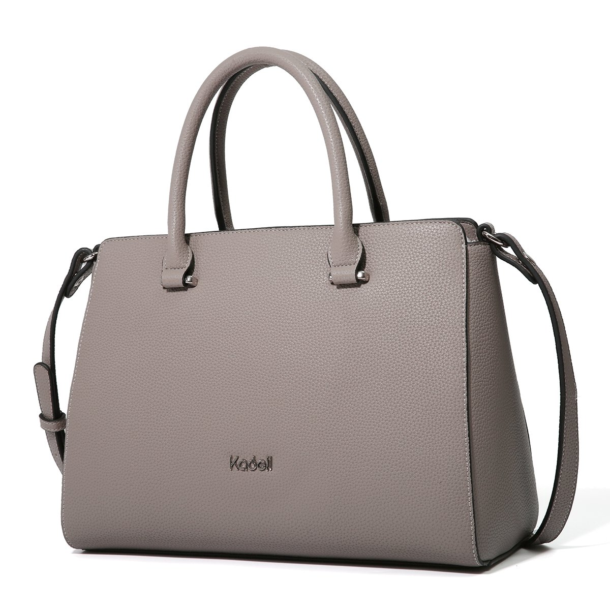 Kadell Women Soft Top Handle Satchel Handbags Shoulder Bag Tote Purse Messenger Bags Dark Grey