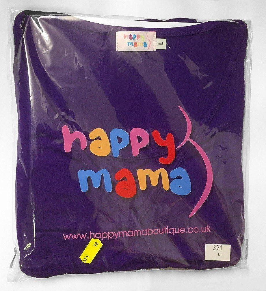 Happy Mama Donna Prmaman Vestito Boobtube Impero di Seta Senza Spalline 129p
