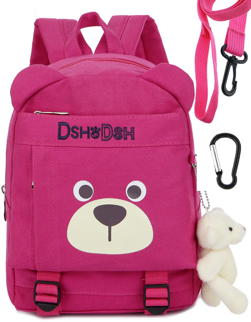 Toddler Kid Backpack Organizer Harness Leash Daycare for School Bags Girls(Pink)