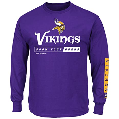 Amazon.com   Majestic Minnesota Vikings NFL Primary Receiver 2 Long ... 1d3ef27d0