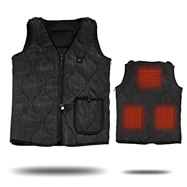 Heating Clothes Amazon Com >> Electric Heated Warm Vest Size Adjustable Washable Usb Charging