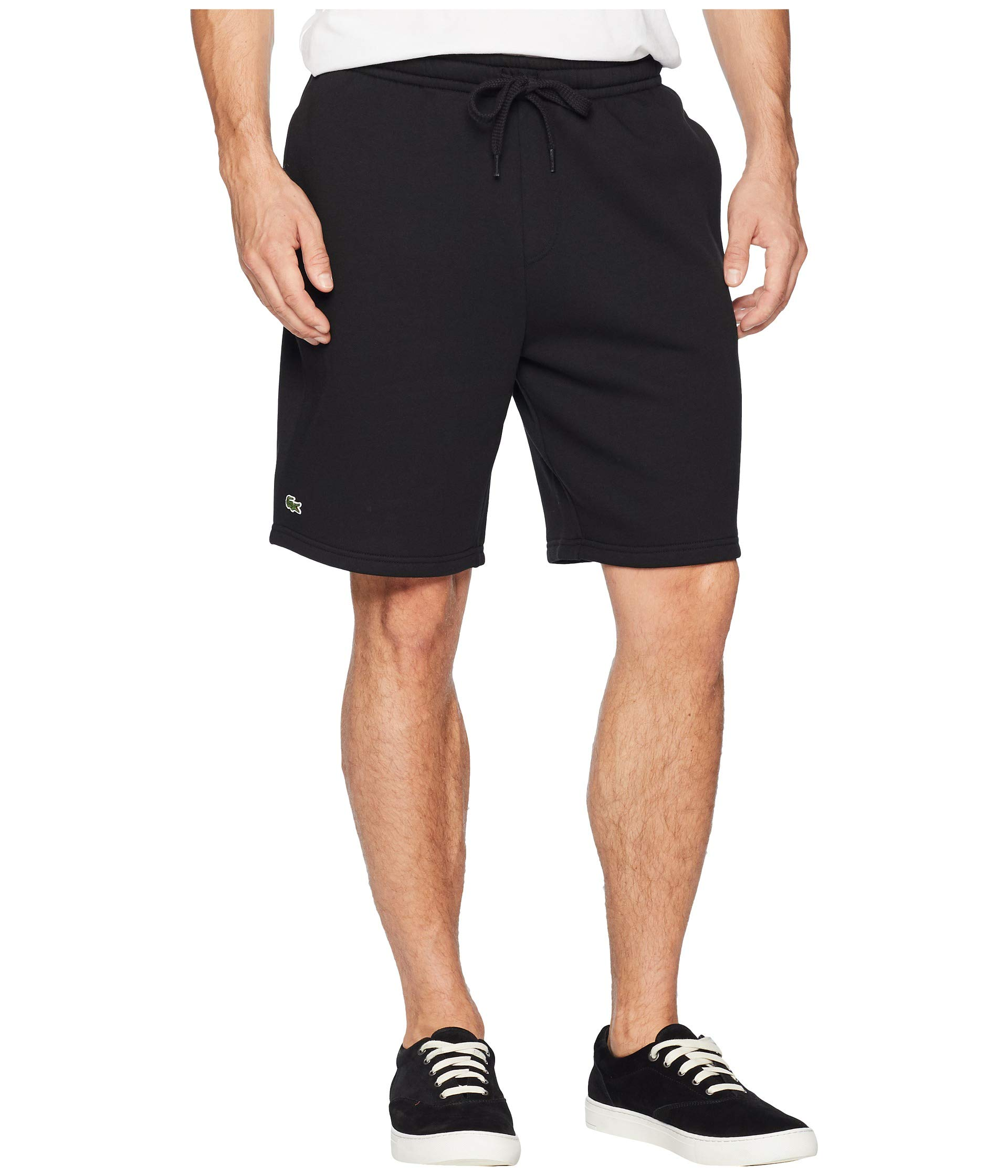 Lacoste Men's Sport Fleece Short, Black, Medium