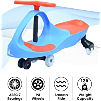 R for Rabbit Iya Iya Swing Car for Kids -Strongest & Smoothest Twister - Magic Car with PU Wheels (Blue Red)