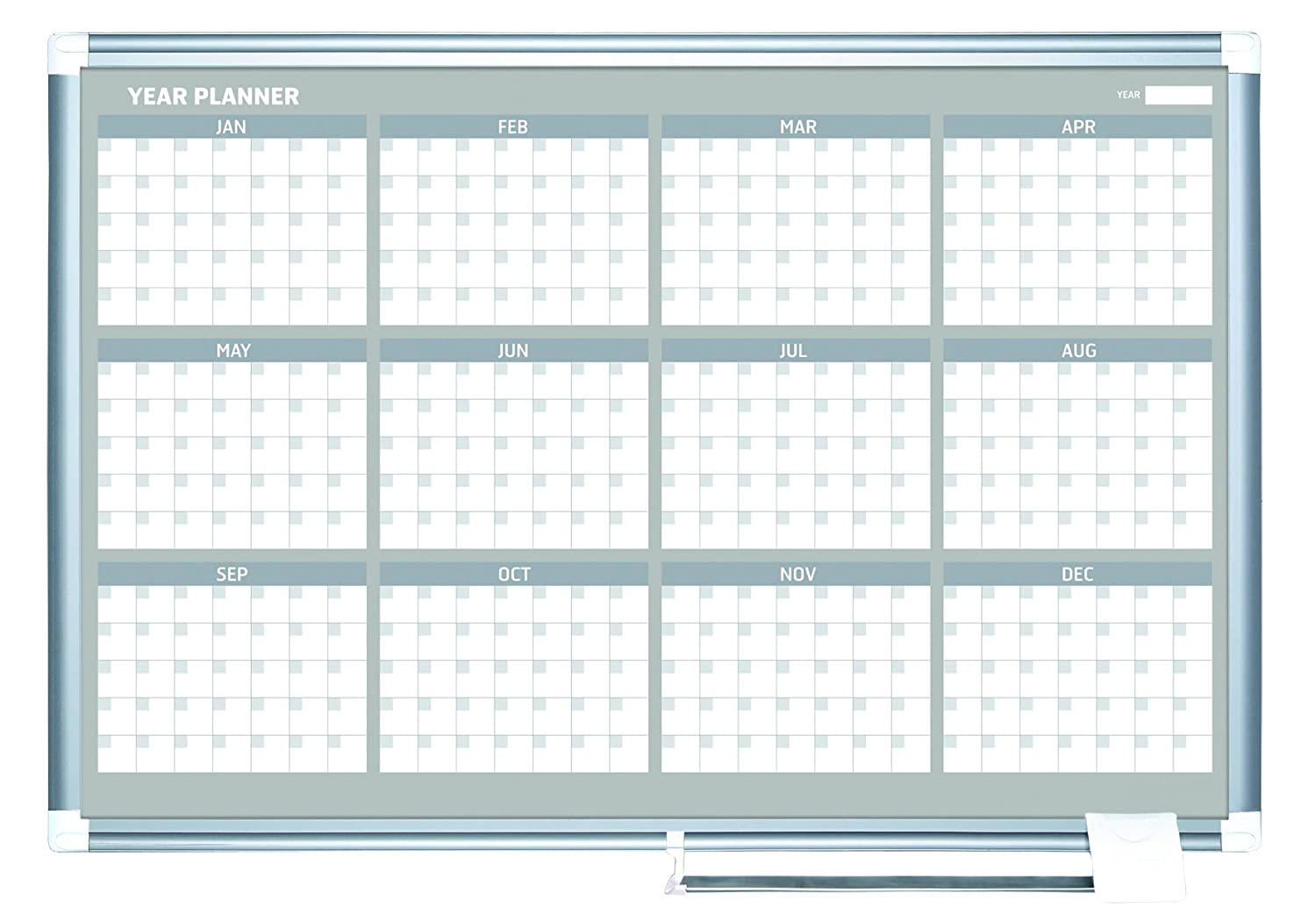 MasterVision Planning Board Magnetic Dry Erase 12 Month Calendar ...