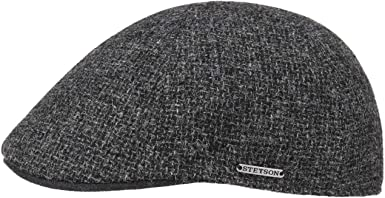 Fall//Winter Peaked Cap Stetson Texas Classic Wool Flat Cap for Men Slim fit 6-Panel Cap Wool Cap Cap with Cotton Lining