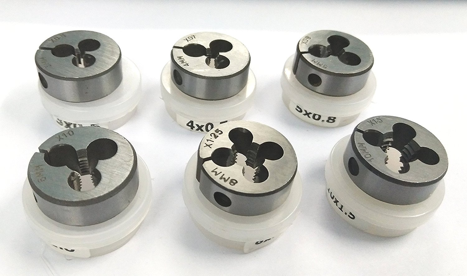 Precision Set of 6 Quality Alloy Steel Hard Dies Metric thread M3 to M10 to suit 1'' OD Die Holder