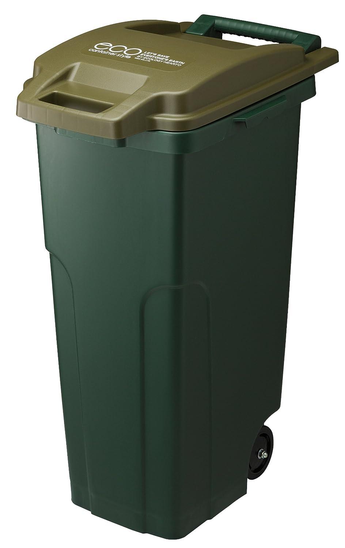 リス 『キャスター付ごゴミ箱』 コンテナスタイル2 キャスターペールCS2-70C2 70L 2輪 カーキー B00AA45OCUカーキー