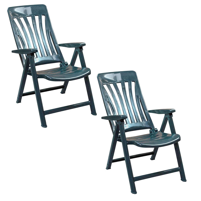 resol Blanes multifunción Plegable-posición Garden sillón - de plástico Verde - Unidades 2 sillas: Amazon.es: Jardín