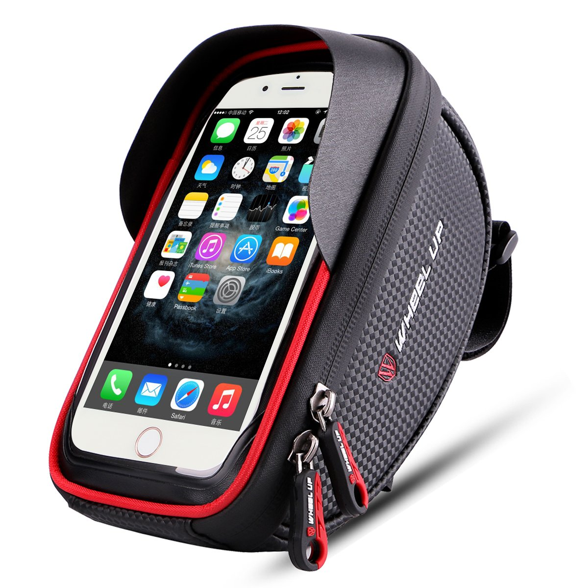 Wallfire Bike Phone Mount Bag  Bicycle Frame Bike Handlebar Bags with Waterproof Touch Screen Phone Case