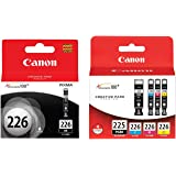 Canon PGI 225 / CLI 226 5-Pack Genuine OEM Ink Cartridges Full Set CYMK,BK