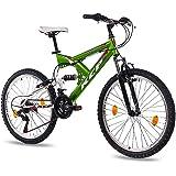 "24"" KCP MOUNTAIN BIKE Youth Kids Bike PANTHERA 18 speed Shimano white green - (24 inch)"