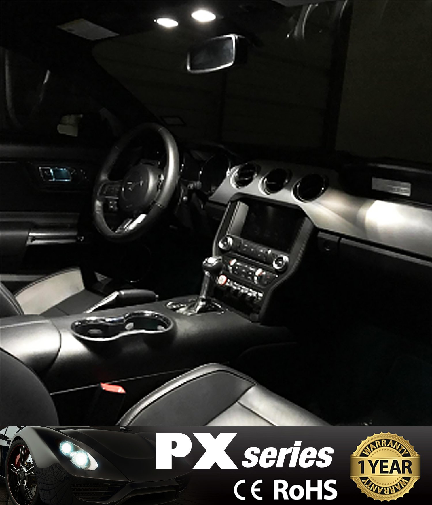 JDM ASTAR 10pcs Super Bright 194 168 175 2825 T10 PX Chipsets LED Bulbs,Xenon White (Best Value on the market) by JDM ASTAR (Image #6)
