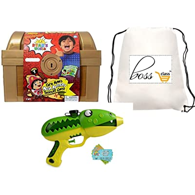 POG Kids Boys Ryan Ryan's World (Bonus POLOSIE Pen ) Slimy Blaster & Exclusive Mega Mystery Treasure Chest, Over 1FT Long: Toys & Games