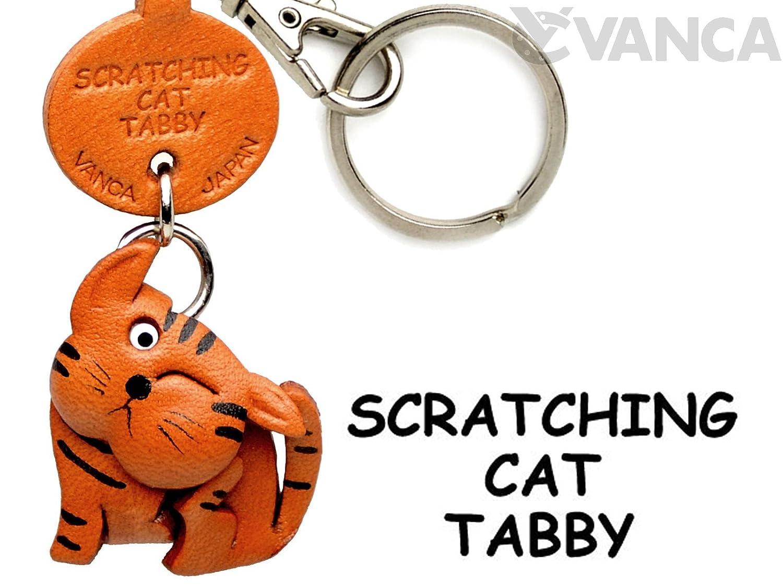 Tabby Scratching CatレザーCat Tabby SmallキーチェーンVANCA B008DPXK88 craft-collectibleキーリングチャームペンダント日本製 Scratching B008DPXK88, 美里村:f8cc717b --- awardsame.club