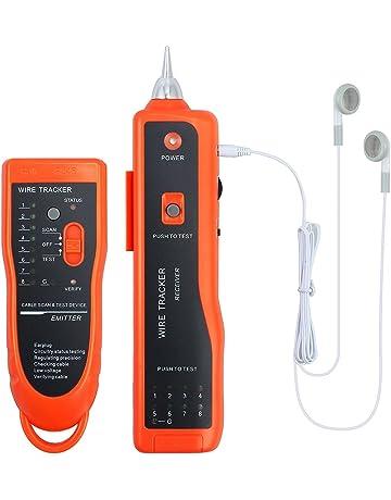 Tester de Cable Red XQ 350 Comprobador de Cables RJ45 RJ11 Herramienta Comprobadora LAN con Sonda