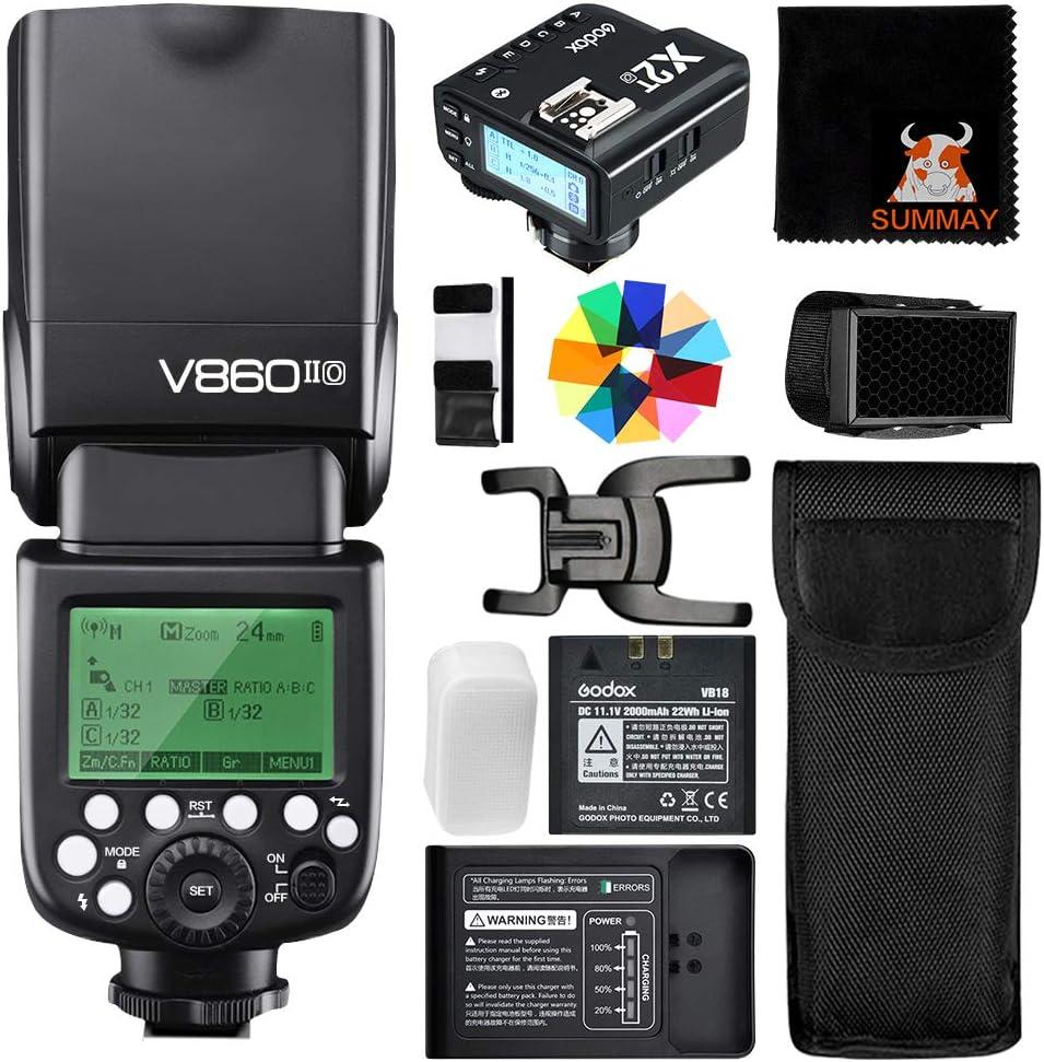 GODOX V860II-O TTL Camera Flash Speedlight with X2T-O Trigger with Li-ion Battery 2.4G HSS 1//8000s Flash for Olympus Panasonic Lumix Cameras
