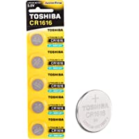 Toshiba CR1616 3V Lithium Coin Cell Battery Pack of 5 batteries