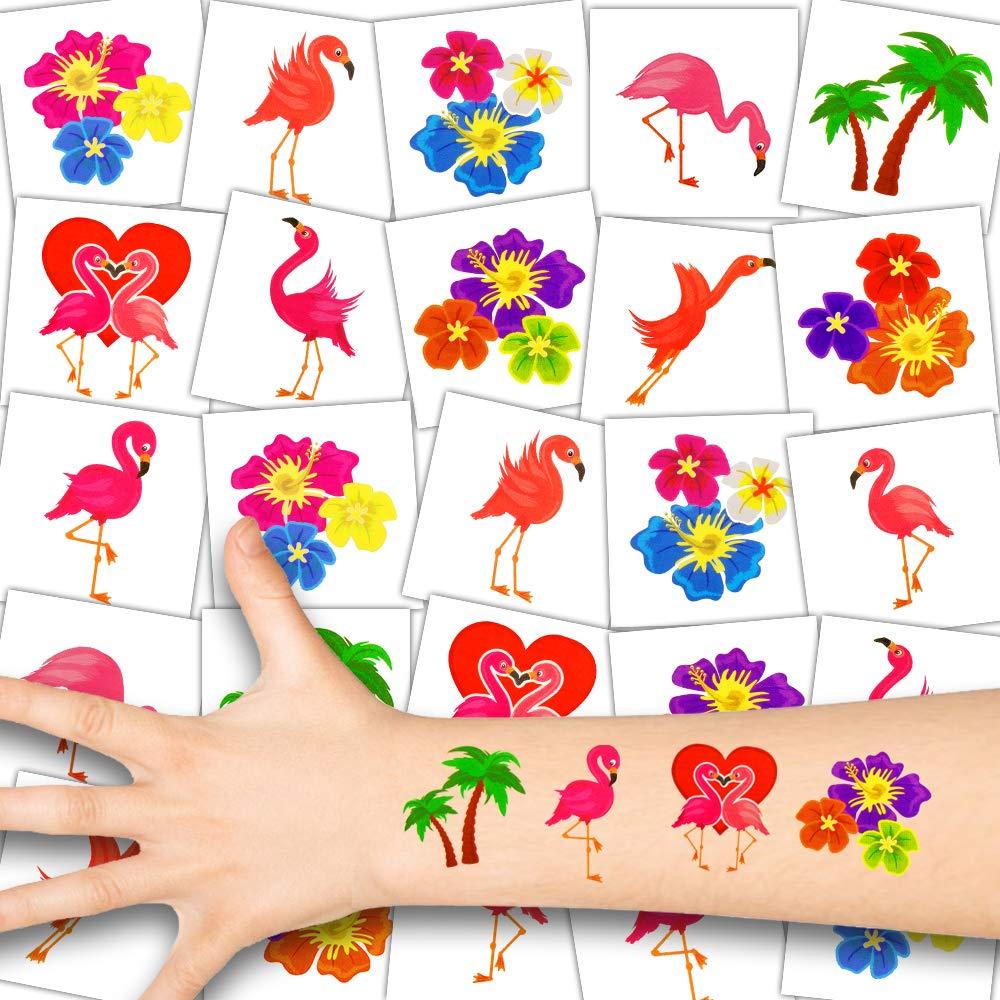 Conjunto Fiesta┃Lindos Motivos Mares del Sur┃Cumplea/ños Ni/ños┃Regalito┃72 Tatuajes 72x Flamenco Ni/ños Tatuajes German Trendseller/®