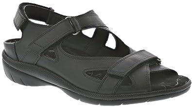 e965cfb80 Drew Shoe Lagoon Women s Therapeutic Diabetic Extra Depth Sandal  Black 5  Medium (B)