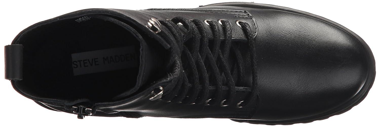 Steve Madden Women's Geneva Combat Boot B074PFF921 6 B(M) US|Black Leather
