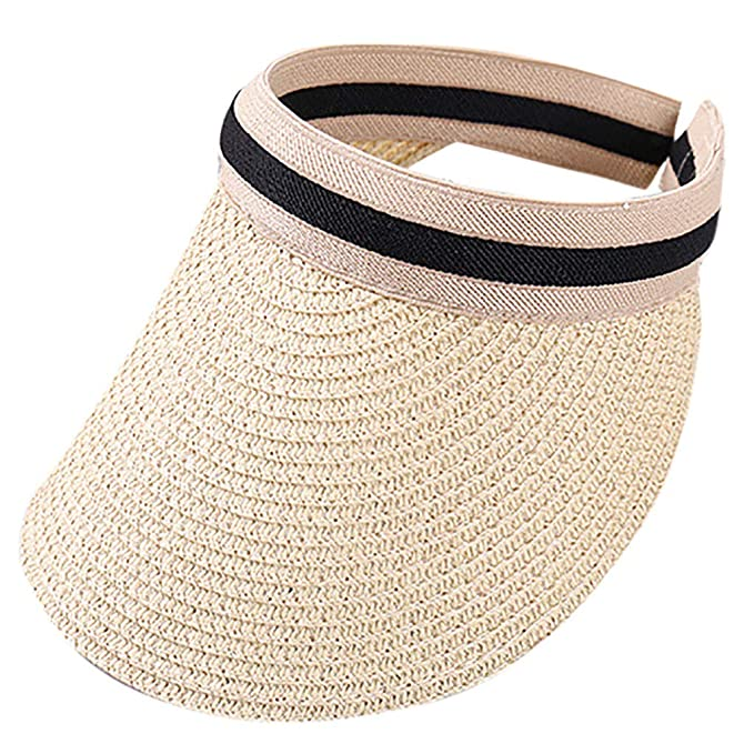 Amazon.com  Fenleo❤️Children Cute Straw Boater Hat Festival Summer Girls  Sun Beach Hat Beige  Clothing 52a2c902fee1