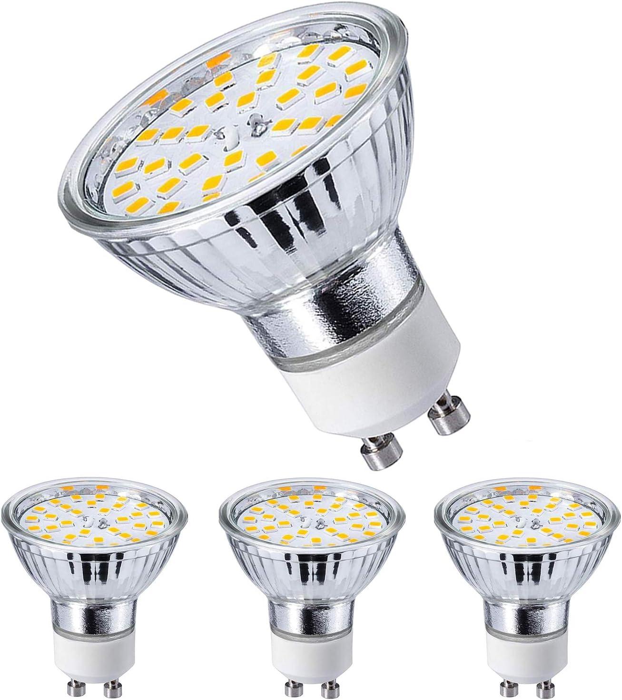 GU10 LED Warmweiss Lampen 5W 420 Lumen AC 220V-240V LED Leuchtmittel 2800 Kelvin Warmweiß Energiesparlampe ersetzt 40W Halogenlampen 120 Grad Abstrahlwinkel Glühbirnen - Energiesparlampen